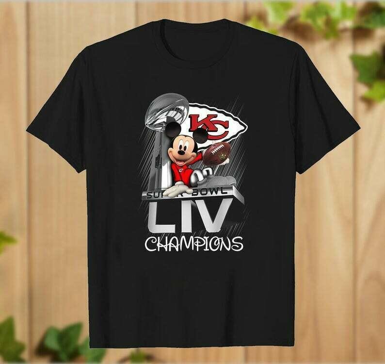 Kansas City Chiefs Mickey Mouse Super Bowl Liv Champions,Walt Disney World Chiefs Inspired NFL Football Team fan gift T-Shirt - hung07032020
