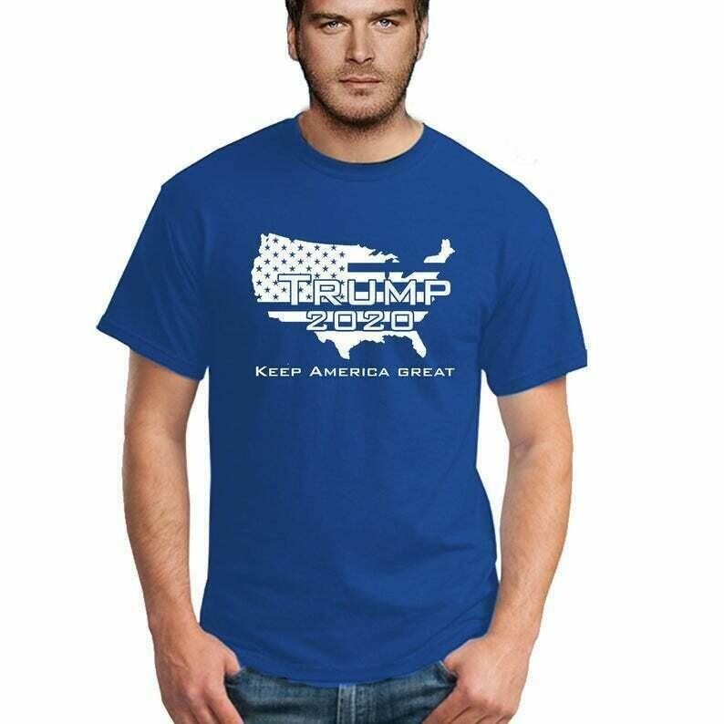 TRUMP 2020 American Map President American Election Novelty Funny MEN Tshirt Make America Great Again Republican Tee Shirt