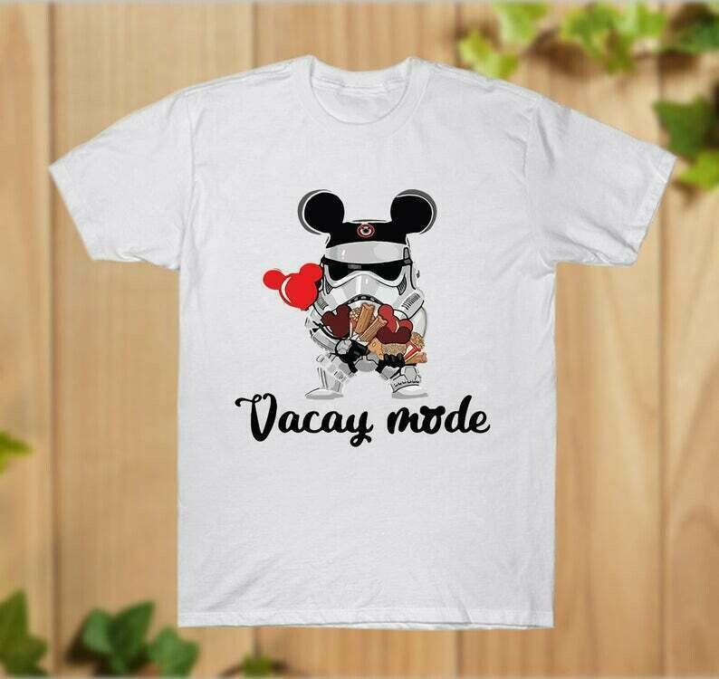 Star Wars Stormtrooper Micky Vacay Mode Mouse Disney, Stormtrooper Inspired Digital Mouse Ears T-Shirt Disney World Hoodie - hung07032020