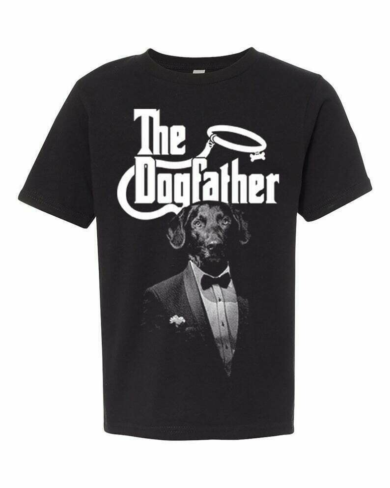 Youth T Shirt, THE DOGFATHER, Funny Youth Shirts, for Kids, Dogs, Kids T Shirt, Youth Tops and Tees, Graphic Tee, Kids Tee, Godfather Parody
