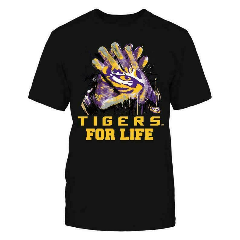 Lsu Tigers T-shirt - For Life - Gildan Unisex T-shirt - Louisiana - Free Shipping - Officially Licensed Fashion Sports Apparel