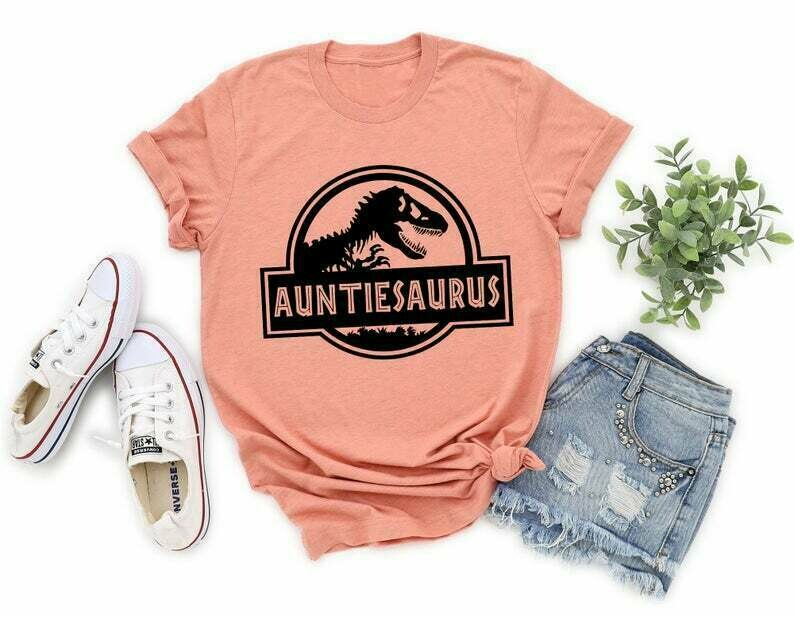 Jurassic Dinosaur Aunt Shirt Auntiesaurus Tee Dinosaur Aunt Shirt Jurassic Shirt