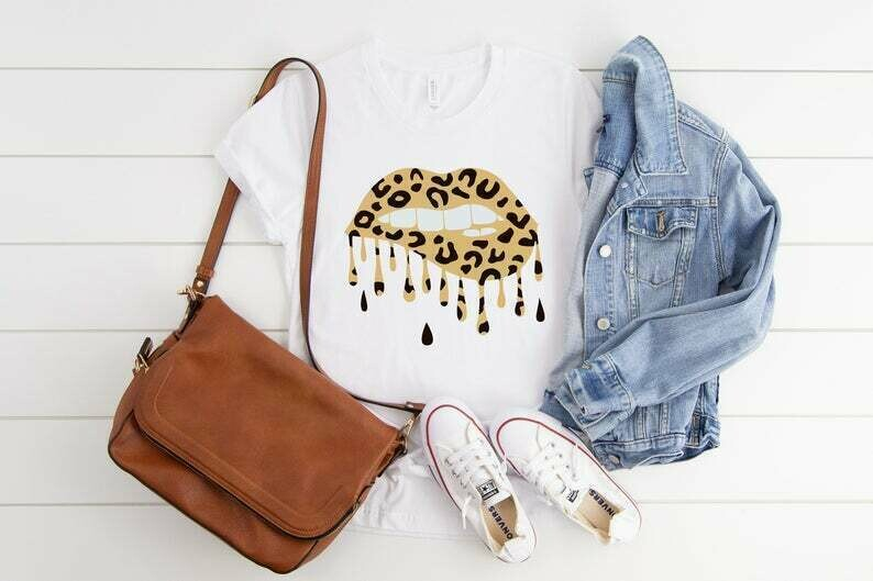 womens valentines day shirt, lips shirt, cheetah shirt, womens cheetah shirt, leopard shirt, womens leopard shirt, cheetah lips, cheetah