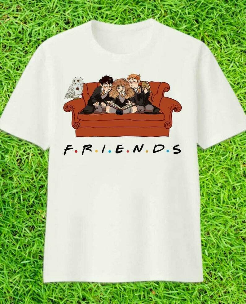Friends Harry Potter Patronus Daniel Radcliffe Emma Watson And 14 Years 1997 2011 Hogwarts Castle Family Vacation Movie Fans T-Shirt