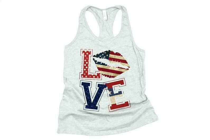 Love Lips, Love 4th Of July, 4th Of July Tank Women, 4th Of July Shirt Women, Flag Shirts Women, Patriotic Shirts For Women