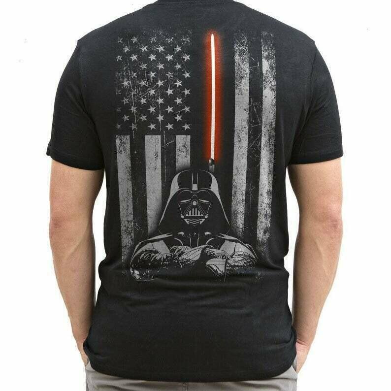 Star Wars Darth Vader American flag,The Way Spirit Portrait Helmet Sticker Bounty Hunter Galaxy Edge Boba Fett T-Shirt