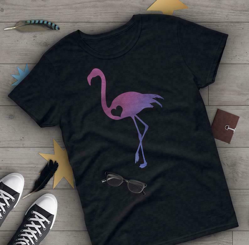 Flamingo Shirt, Women Men, Flamingo Lover Gift, Cute Flamingo T-shirt, Pink Flamingo Tshirt, Bird Graphic Tee, Blue, Navy, Black, Pink