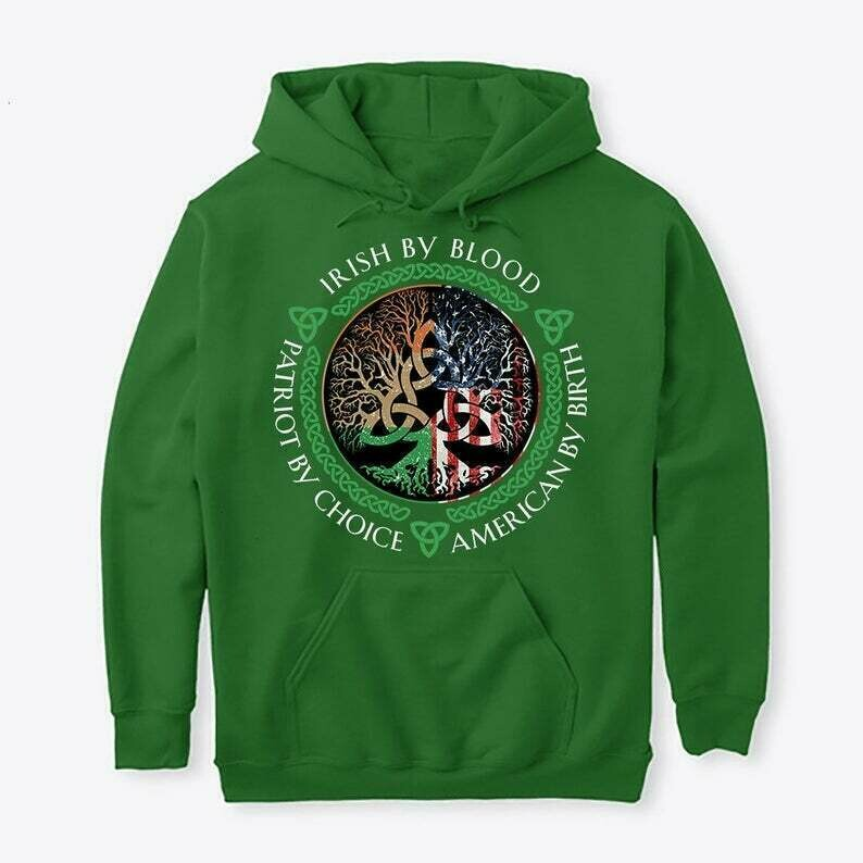 Irish By Blood American By Birth Patriot By Choice St Patrick Day T-shirt