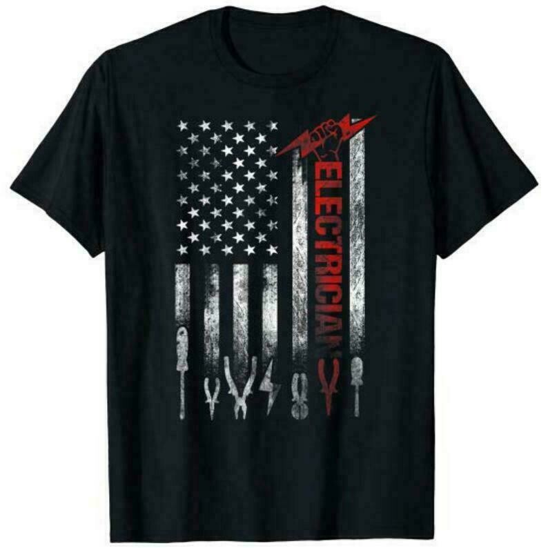 Electrician American Flag Fathers Day Gift Shirt, Gifts For Electricians, Electrician Grad Gift
