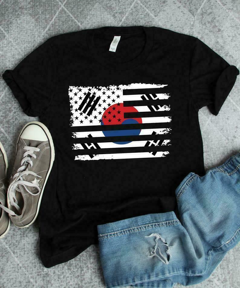 South Korean Flag Shirt, Korean Shirt, Korean American, South Korean Colors, South Korea Gift, South Korea Shirt, American Korean Gift