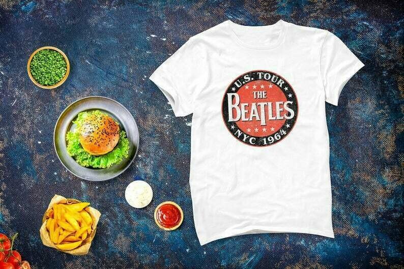 Vintage The Beatles Logo The Beatles US Tour NYC 1964 T-shirt, Beatlemaniac Shirt, The Beatles Gift Men Women, Vintage Distressed Beatles
