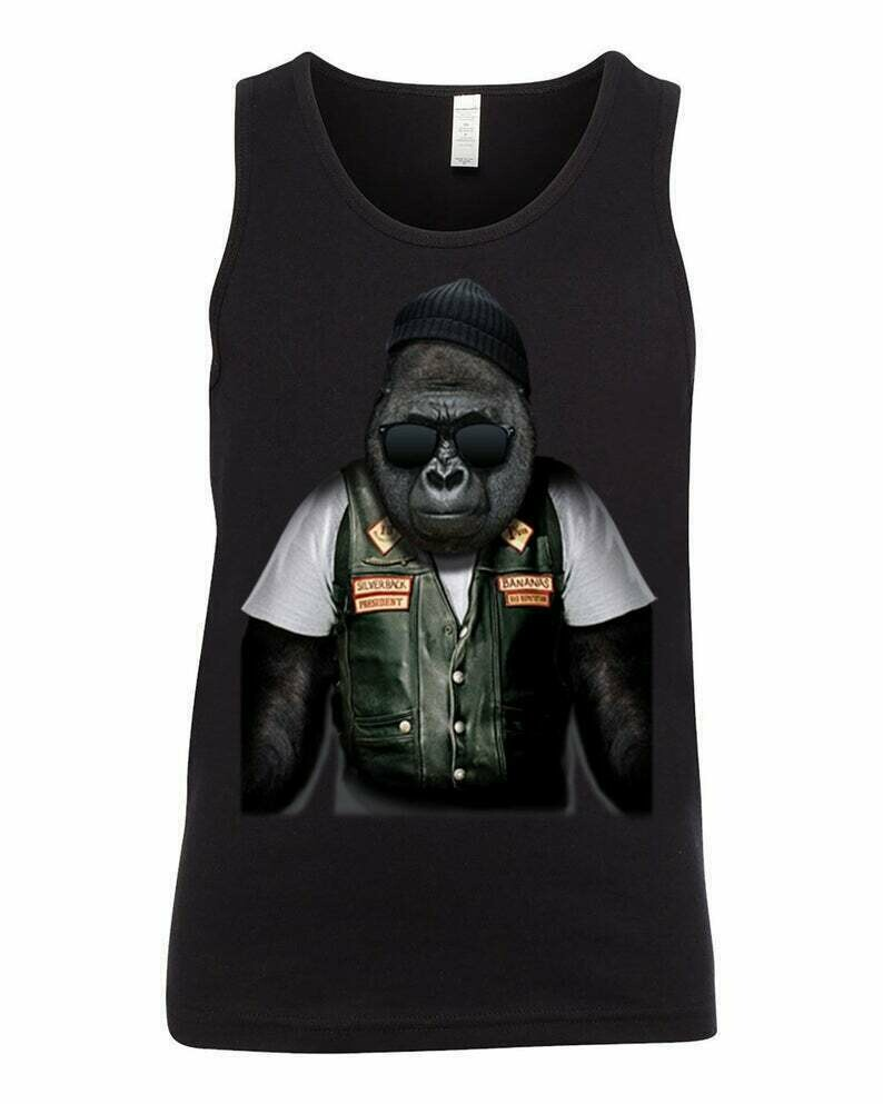 Youth Tank Top, Unisex, BIKER APE, Gorilla Shirt, Kids Tank Tops, Funny Youth Tanks, Bikers, Motocycle Shirt, Kids Tees, Tops and Tees, Tank