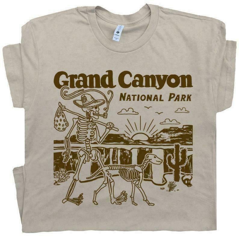 Grand Canyon Shirt National Park T Shirt Monument Valley Shirt Cool Hiking Shirts Camping Shirts Canoe Mens Womens Graphic Shirts Souvenir