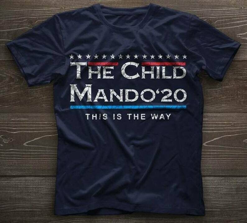 The Child Baby Yoda Mando '20 This Is The Way Master Of Bounty Hunting The Mandalorian with death Star Wars Movie USA Flag T-Shirts