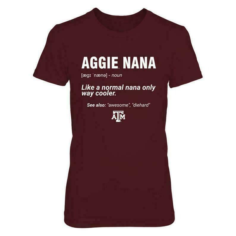 Texas A&m Aggies T-shirt For Women - Nana Definition - Gildan Women's T-shirt - Texas - Free Shipping - Officially Licensed Sports Apparel
