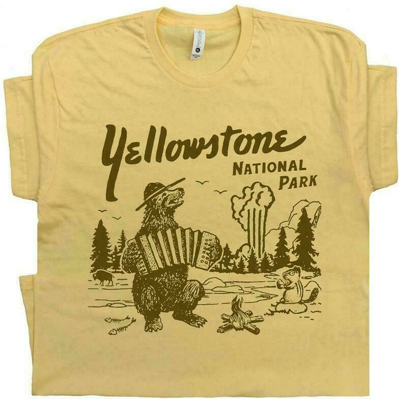 Yellowstone T Shirt National Park Shirt Cool T Shirt Funny T Shirt Grand Tetons Dutton Ranch Jackson Hole Hiking Camping Tee Mens Womens