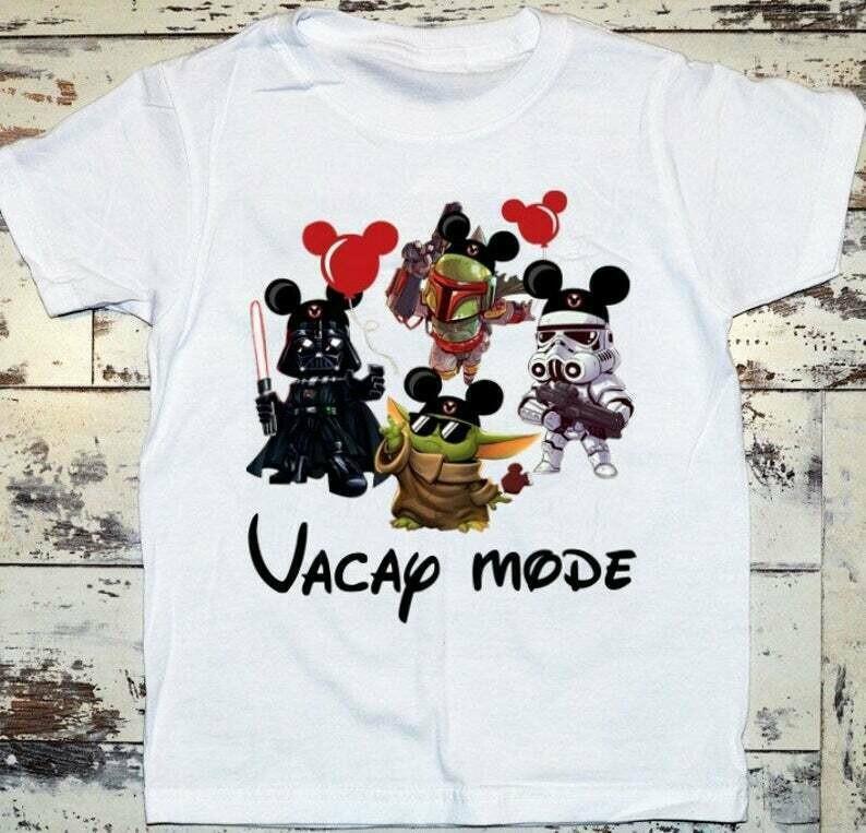 Vacay Mode Baby Yoda Disney The Mandalorian With Death Star Wars Movie Vacay Mode Lovely Mickey T-Shirt