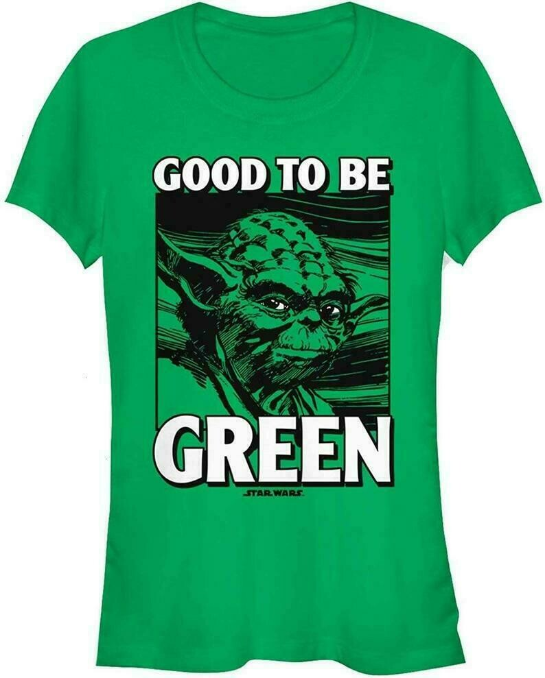 Star Wars Juniors' St. Patrick's Day Yoda Good to Be Green,The Rise of Skywalker Movie Memes Fan T-Shirt