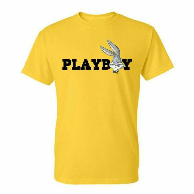 Bugs-Bunny Playboy Classic , Tees Graphic Funny Generic Novelty Unisex T-Shirt, Fashion High End dtg Printing Playboy Magazine