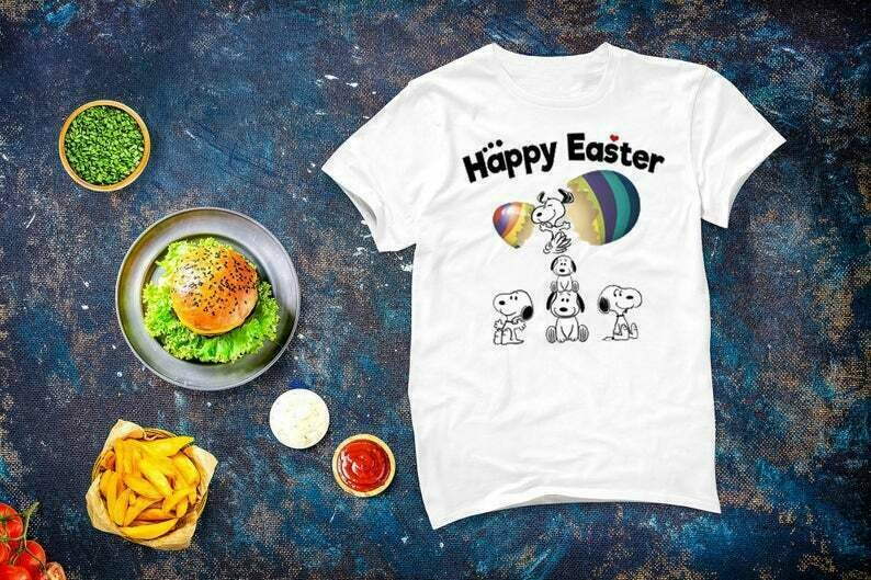 Happy Easter Peanuts Easter Eggs Funny T-shirt, Peanuts Snoopy Shirt, Cute Snoopy Easter Tee Gift