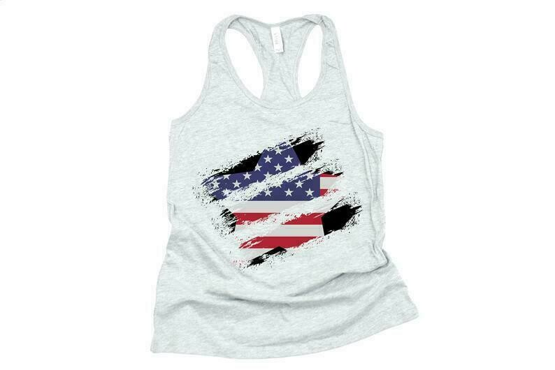 Distressed Star Flag, 4th Of July Tank Women, 4th Of July Shirt Women, Flag Shirts Women, Patriotic Shirts For Women, Fourth Of July Tank