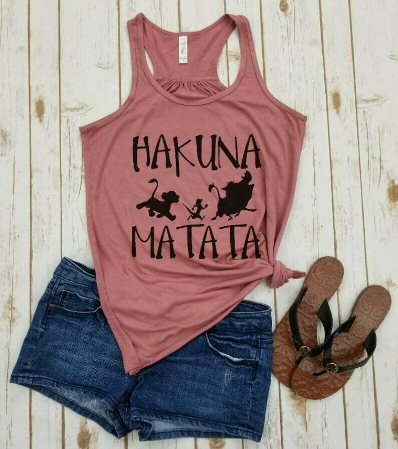 Hakuna Matata - Racerback Tank,Disney Shirts For Women,Disney Matching Shirts,Disney World Shirts,Animal Kingdom Shirt,Disney Family Shirts