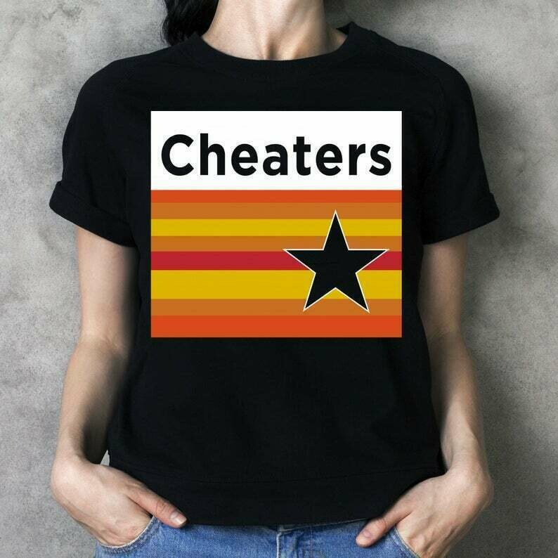 Houston Astericks Cheaters Astros H-Town MLB Baseball stealing signs Cheating scandal T-Shirt