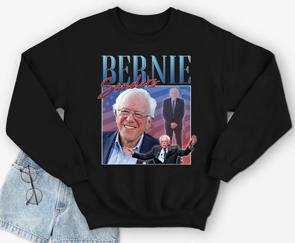Bernie Sanders Homage Sweatshirt Jumper Funny USA Election President Campaign 2020 90's Men's Women's
