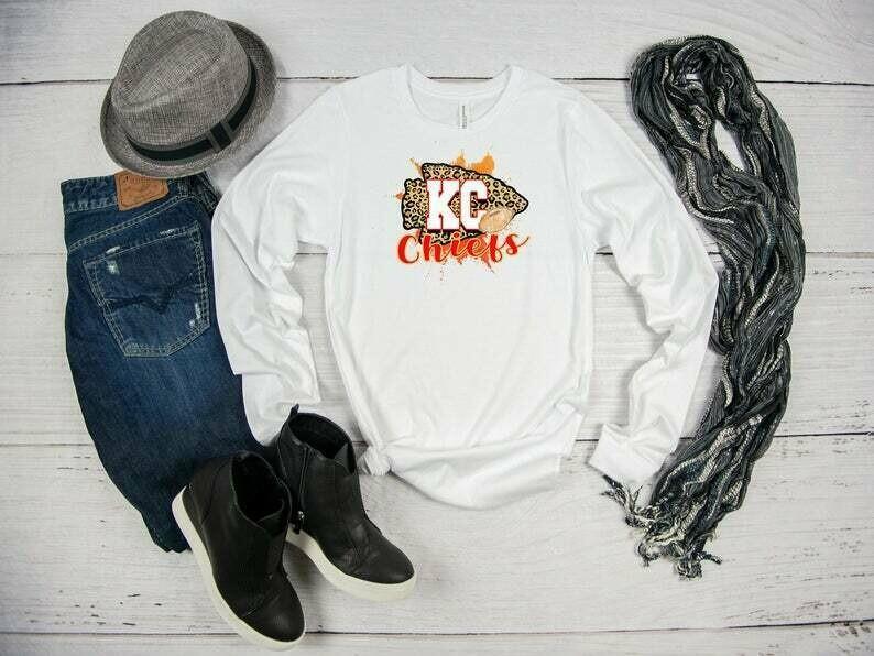Chiefs Long Sleeve T-shirt, Mahomes, Football Shirt, Kansas City Chiefs Shirt, Chiefs Fan