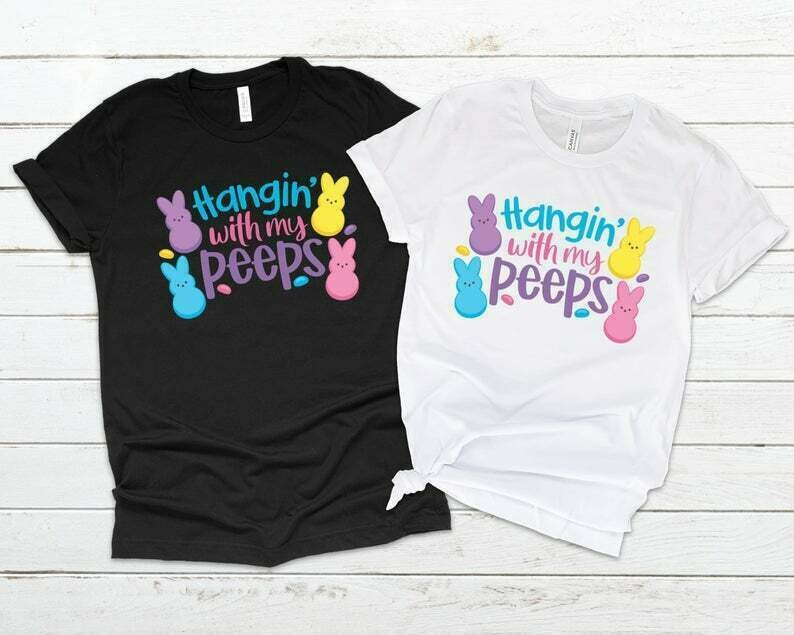 Hangin' With My Peeps Shirt, Matching Easter Outfits Family, Easter Couple Shirts, Family Easter Shirts, Easter Shirt Kids, Girls, Boys