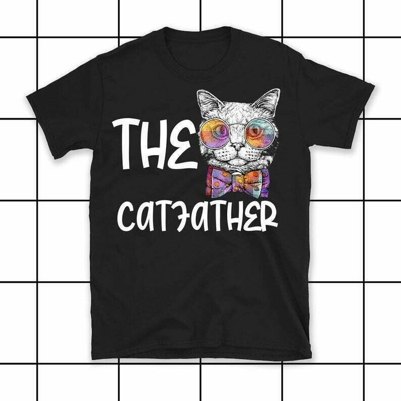 The Catfather Parody shirt, The Godfather Father of Cats Funny Cat Dad tshirt, fathers day gift