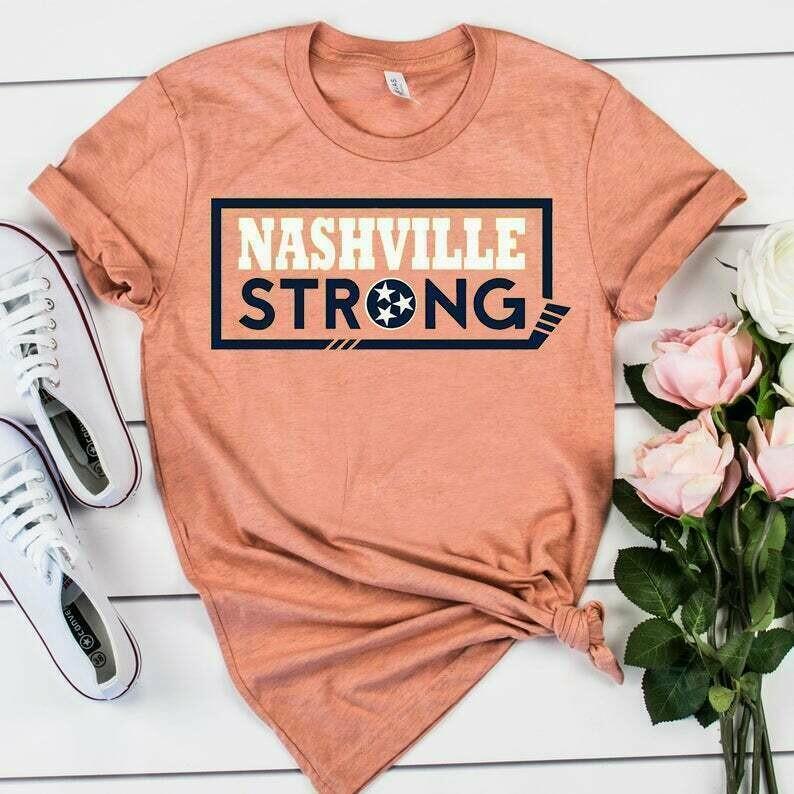 Nashville Strong Tshirt - nashville tornado - tennessee strong shirt - i believe in nashville t shirt - project 615