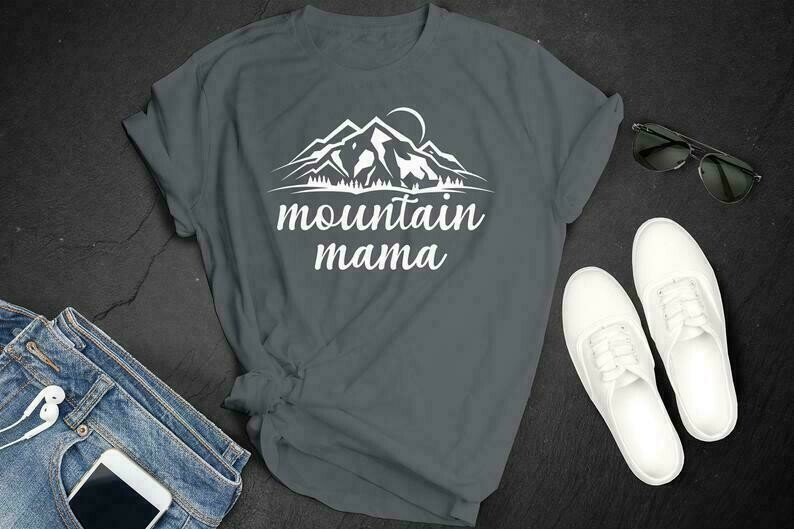 Mountain Mama Unisex T-shirt - Mountain Shirts for Women - Mountain Vacation Shirts - Ski Shirts - Mom Vacation Shirts