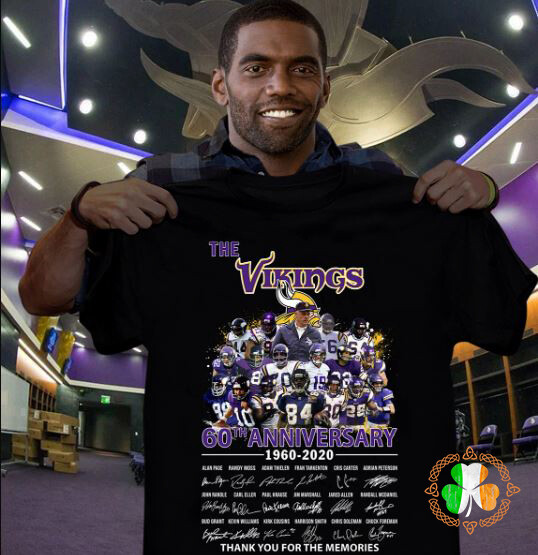 The Vikings 6oTh Anniversary 1960-2020 Thank You For The Memories shirt