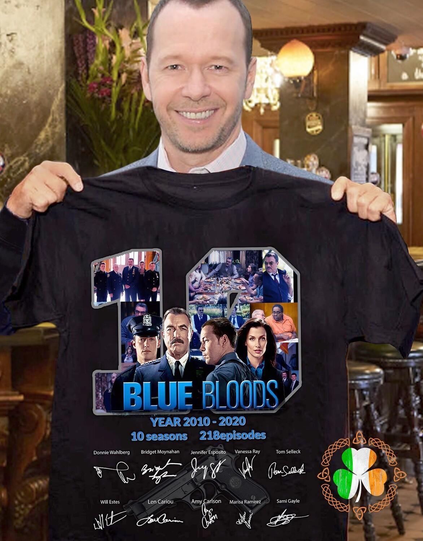 Blue Bloods 10 years anniversary signature shirt
