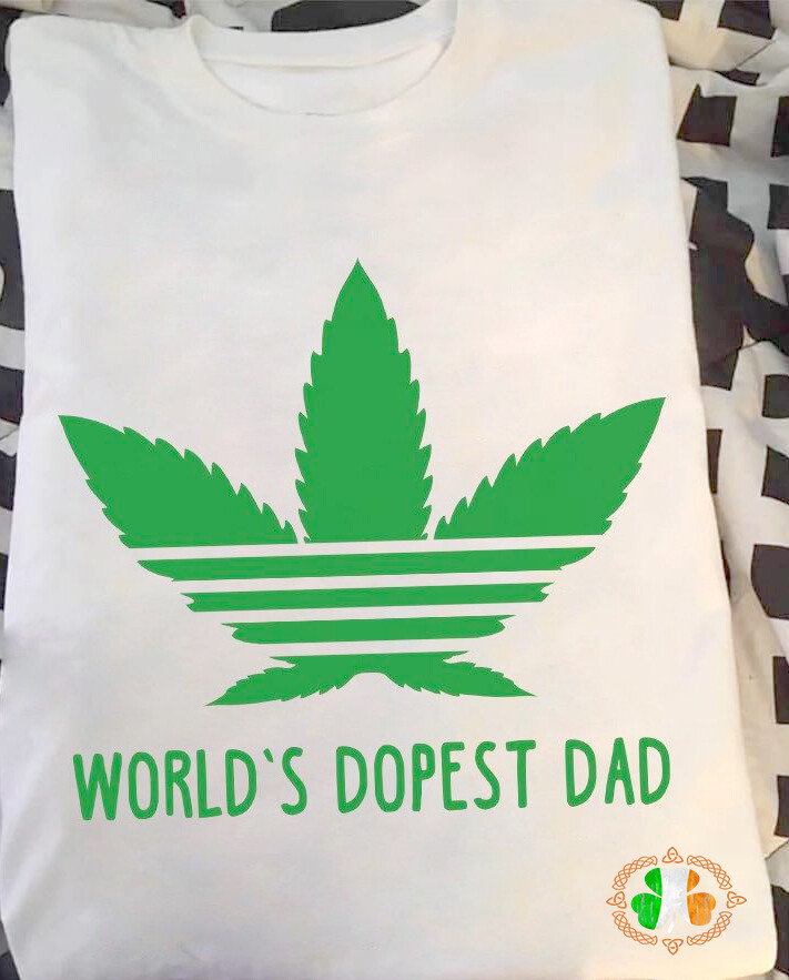 WEED WORLD'S DOPEST DAD T-SHIRT