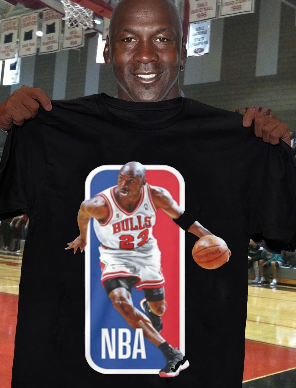 NBA logo Michael Jordan shirt