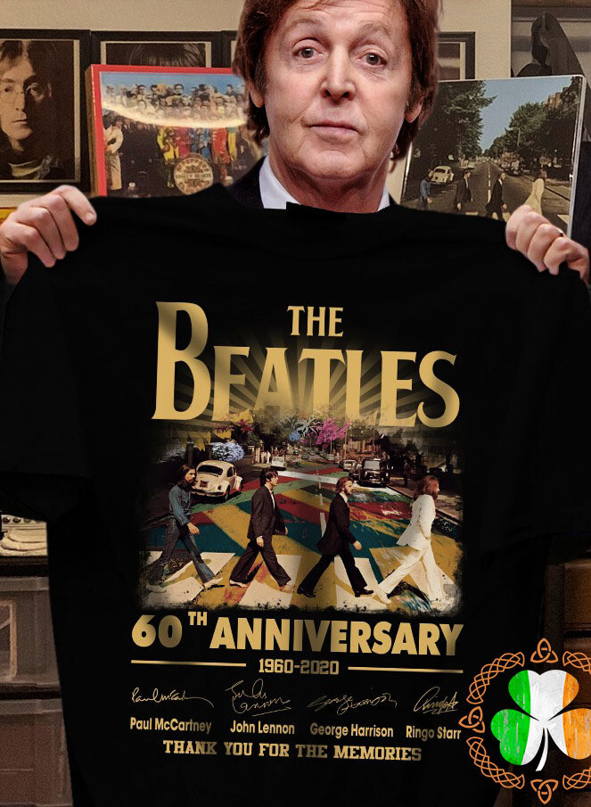 The Beatles 60th Anniversary 1960 – 2020 Members Signature And Thank You For The Memories Shirt