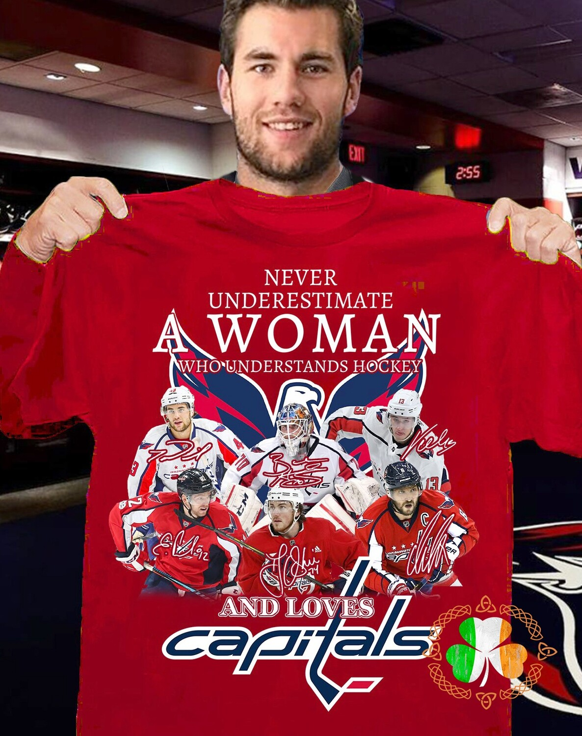 Never Underestimate A Woman Who Understands Hookey And Loves Capitals Shirt