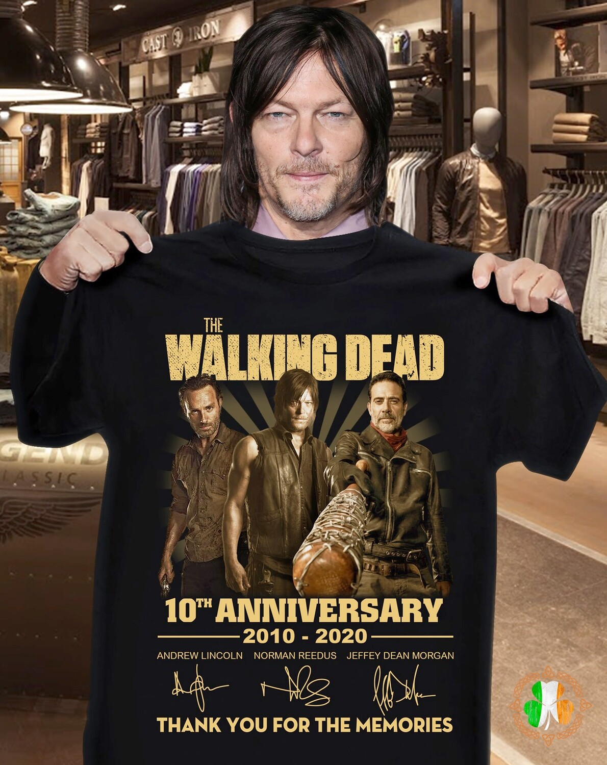 The walking dead 10th anniversary 2010 2020 full cast signatures T-Shirt