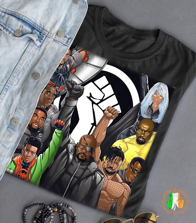 Avenger characters no justice no peace blacklivesmatter shirt