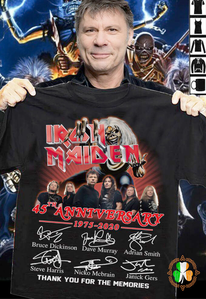 Iron Maiden 45th Anniversary 1975-2020 Thank You For The Memories Signature Shirt