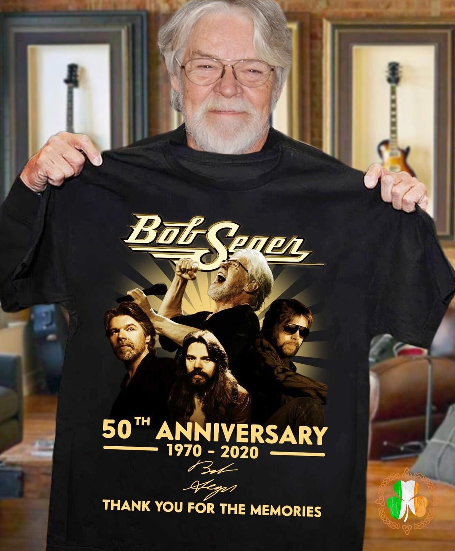 Bob Seger 50th anniversary 1970-2020 thank you for the memories shirt