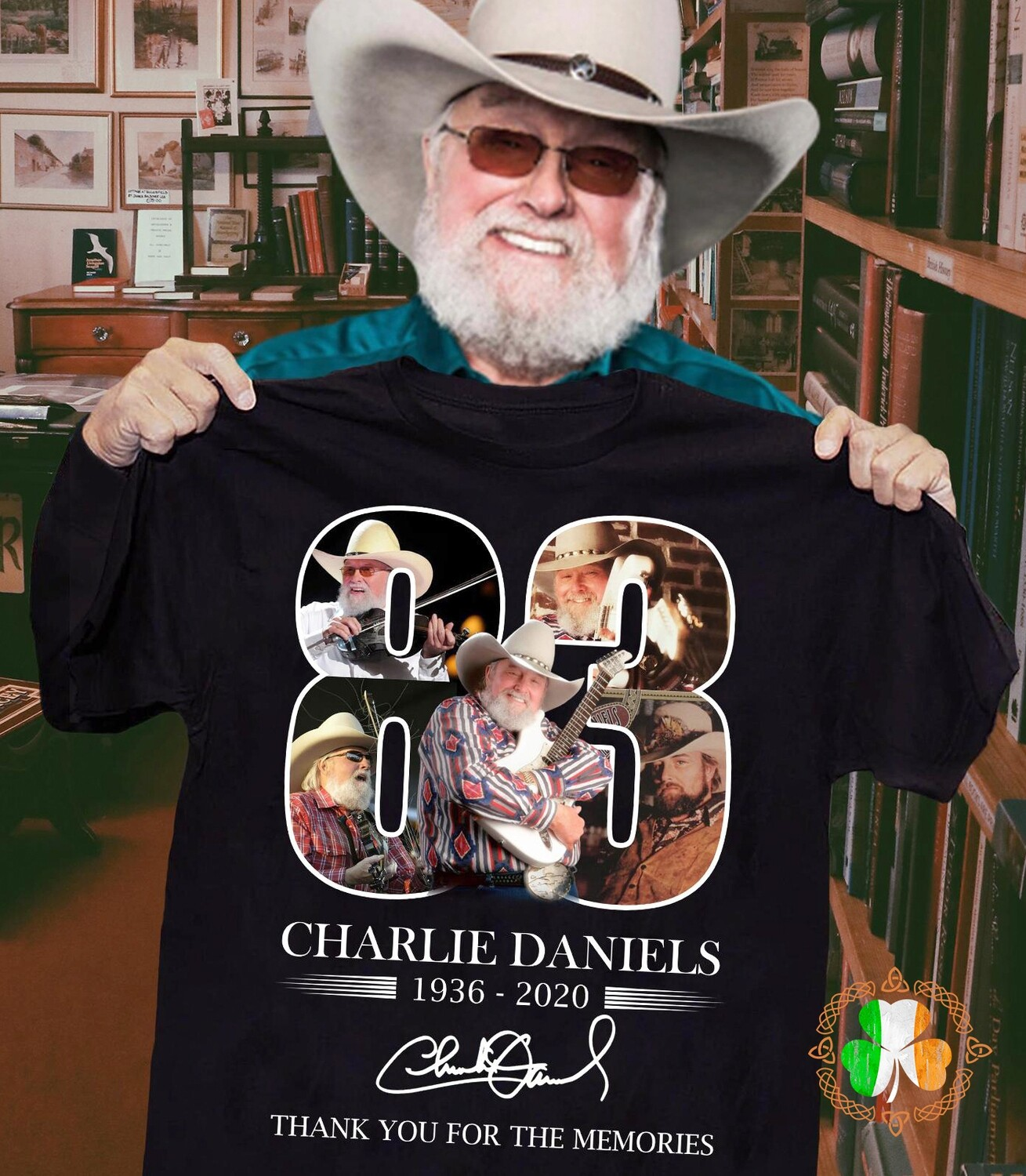 Charlie Daniels 83 years thank you for the memories signature shirt