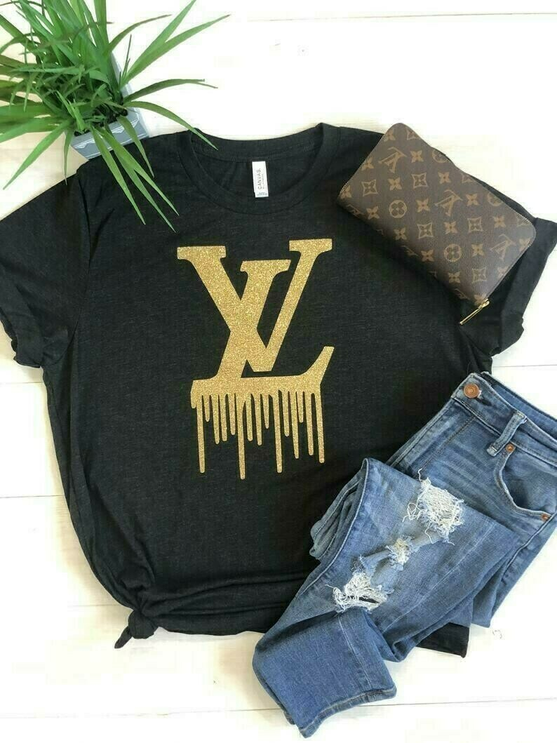 LOUIS VUITTON, Logo Louis Vuitton Shirt LV , Logo Fashion LV Gucci Design Fashion Shirts for Women Men