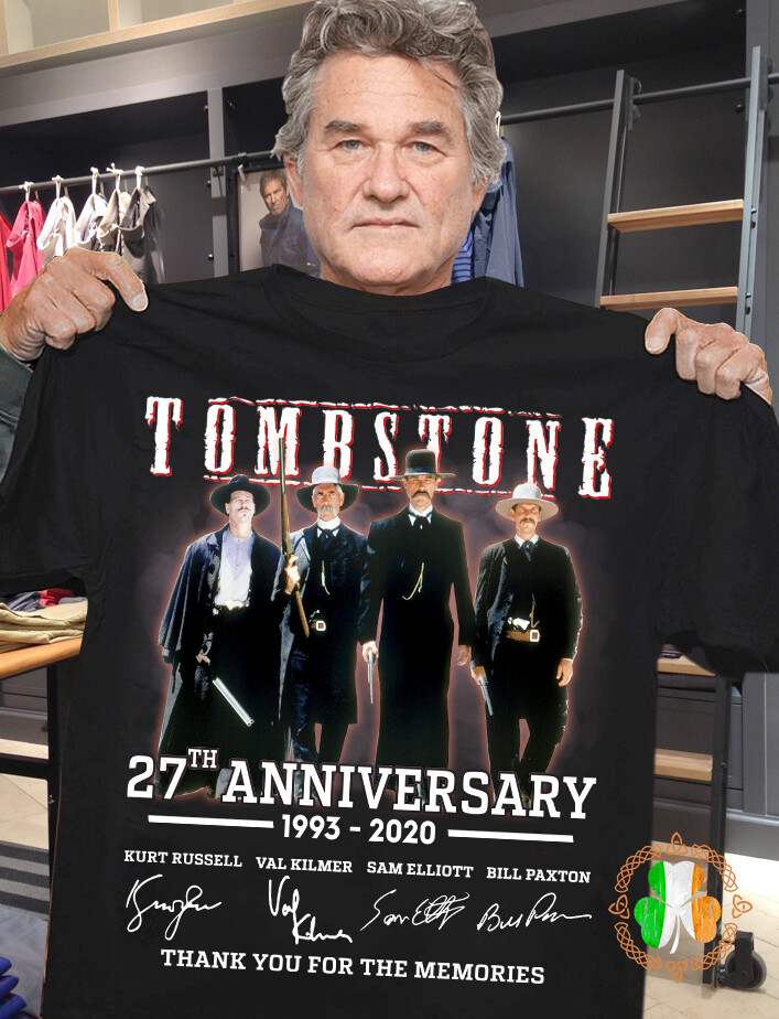 Tombstone 27th anniversary 1993 2020 thank you for the memories signatures black shirt