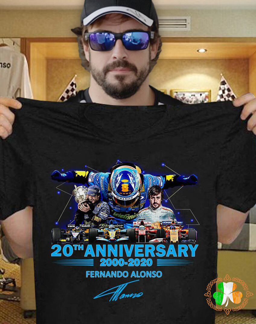 Fernando Alonso 20th anniversary 2000 -2020 fernando alonso shirt