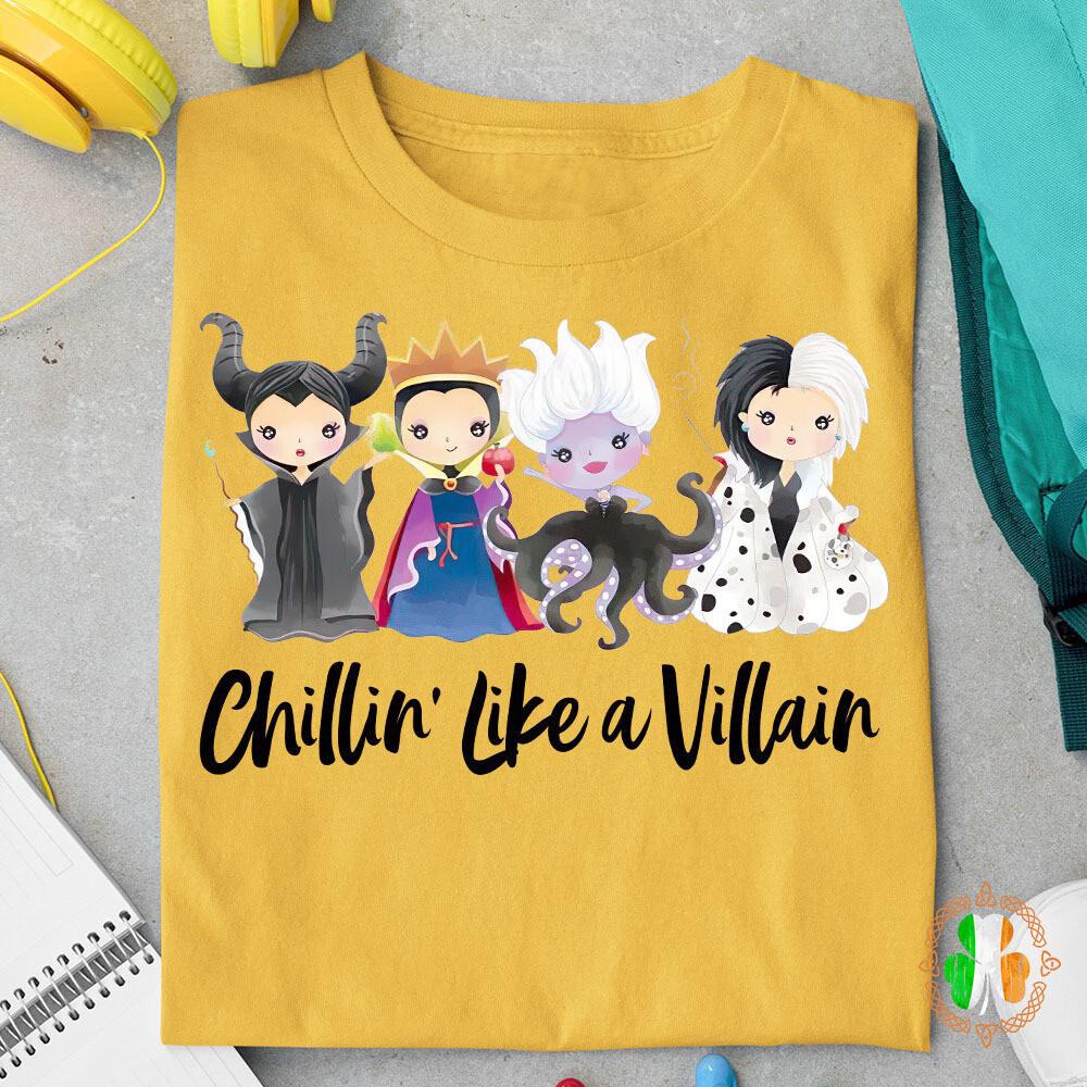 Disney Chillin Like A Villain Shirt
