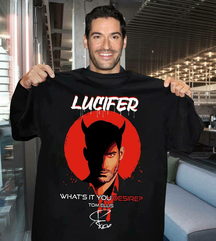 Lucifer what's it You desire Tom Ellis signature shirt