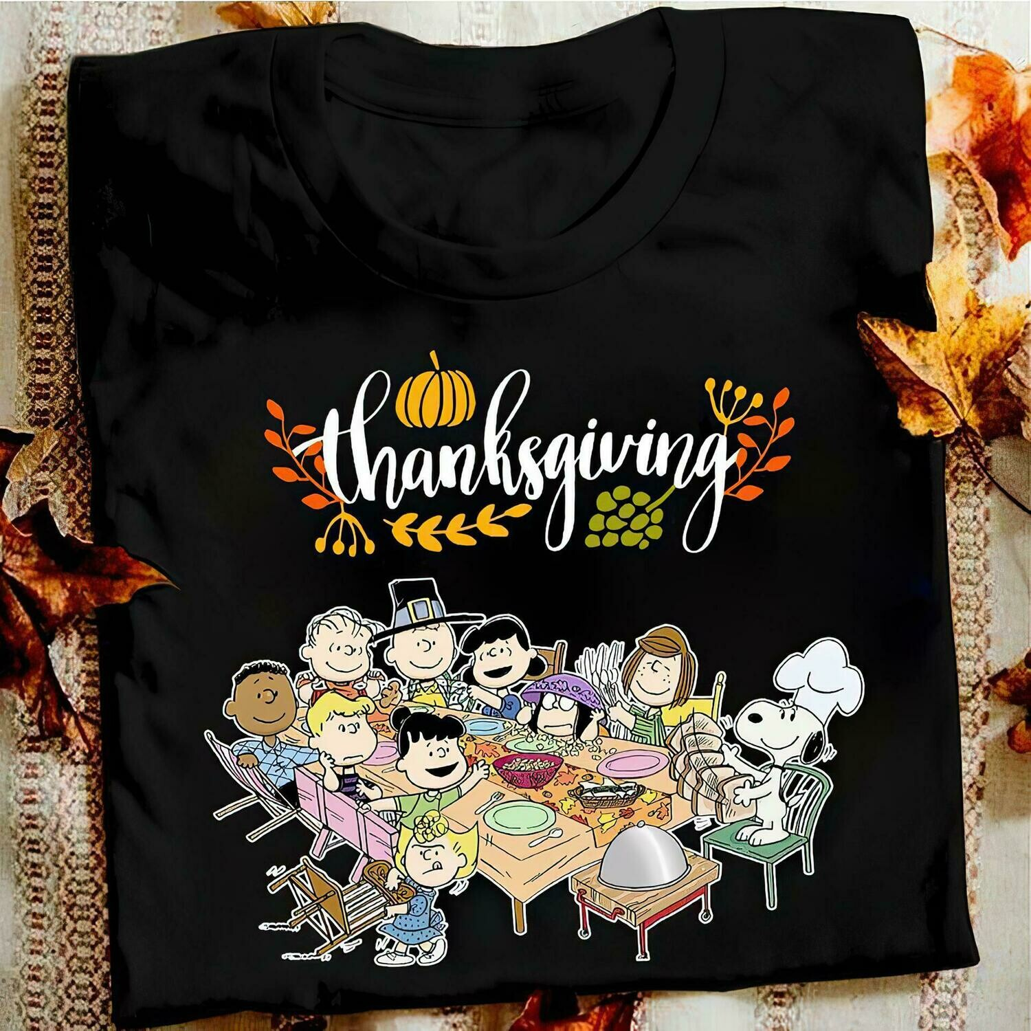 Snoopy Peanuts with friends thanksgiving shirt